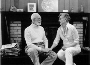 אליס וטינג שלדון בביתם, 1985. צילום: פאטי פרט